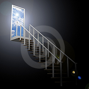 Ladder Leading Up To The Sky Royalty Free Stock Images - Image: 22780769