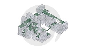 X-ray Green Architecture Royalty Free Stock Image - Image: 22780996