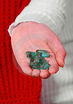 Hand With Pills Stock Photo - Image: 22783750