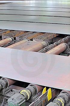 Hot Steel On Conveyor Royalty Free Stock Photography - Image: 22796877