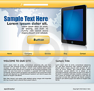 Website Design With Mobile Device Royalty Free Stock Images - Image: 22797769