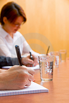 Writing down Stock Photo