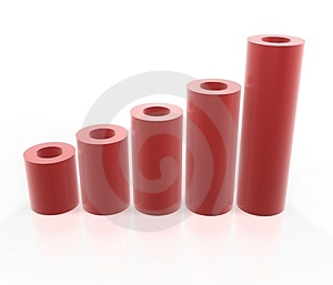 Red tube graph Stock Photography