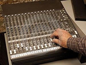 Audio Engineer Adjusting Level Royalty Free Stock Image - Image: 2283926