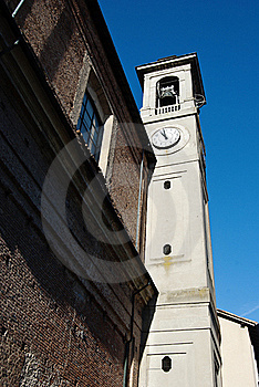 Italian Church Clock Tower Royalty Free Stock Images - Image: 22807419