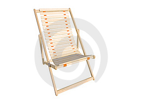 Deck Chair Isolated Stock Photo - Image: 22810020