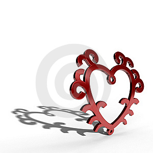 Metal Heart With Floral Model Royalty Free Stock Image - Image: 22812756