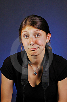 Freaky Clown Face Girl Stock Images - Image: 22817264