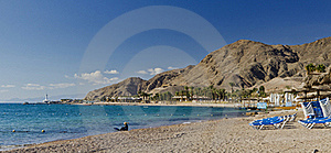 Red Sea And Beaches Near Eilat, Israel Royalty Free Stock Image - Image: 22833646