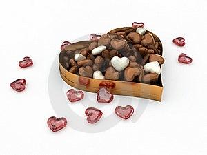 Heart Box Of Candy Chocolates Royalty Free Stock Image - Image: 22835686