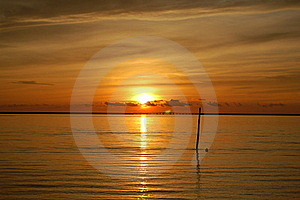 Tropical Beach Sunset Stock Image - Image: 22838431