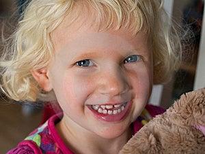Little Girl With Teddy Bear Stock Photo - Image: 22839410