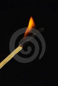 Burning Match Stock Image - Image: 22839701