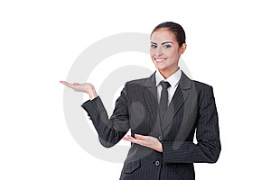Young Businesswoman With An Empty Copyspace Stock Photography - Image: 22842572