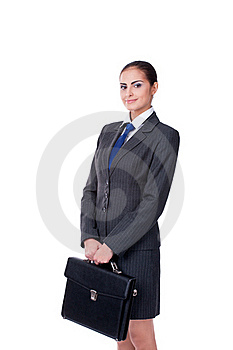 Businesswoman With Briefcase Royalty Free Stock Image - Image: 22842596