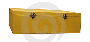 The Big Box Of Gold Colour Stock Photos - Image: 22844733