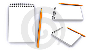 Clear Spiral Notepad With Pencil Stock Photo - Image: 22844960