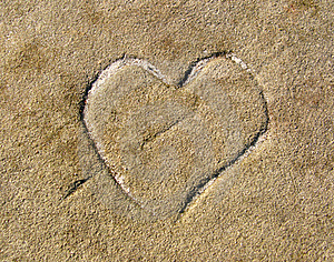 Heart In Stone Royalty Free Stock Photo - Image: 22844995