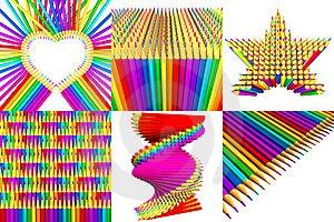 Multicolored Pencils Stock Photo - Image: 22845020
