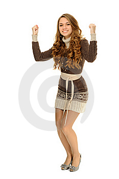 Cheerful Celebrating Success Royalty Free Stock Image - Image: 22849836