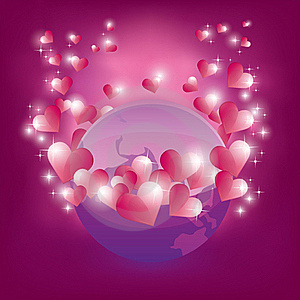 Earth In Love Royalty Free Stock Photos - Image: 22850278
