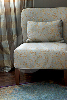 Occasional Chair - Bedroom Textiles Royalty Free Stock Photo - Image: 22852435