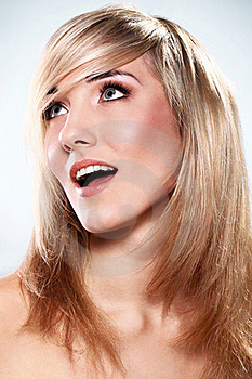 Portrait Of Beautiful Blonde Royalty Free Stock Photography - Image: 22856937