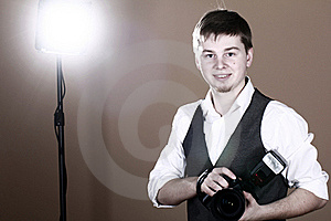 Photographer With Camera Stock Photos - Image: 22857003