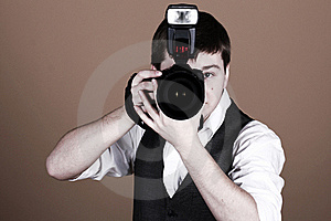 Photographer With Camera Stock Images - Image: 22857004