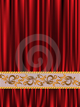 Red Silk And Lace Stock Photo - Image: 22857880