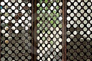 Many Round Mirrors On Wood Royalty Free Stock Image - Image: 22857996