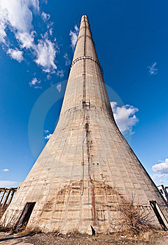 Tower Of An Industrial In Degradation Stock Image - Image: 22858161