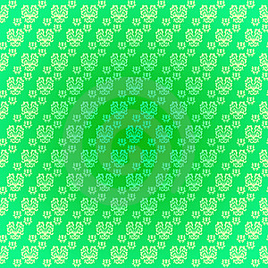 Seamless Pattern Light Green Drawings Stock Images - Image: 22858634