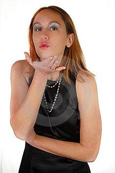Girl Blowing Kiss Royalty Free Stock Photo - Image: 22869155