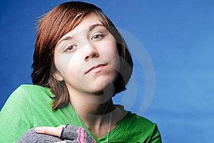 女孩凝视 免版税图库摄影 - 图片: 22871227
