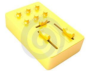 Gold DJ Mixer Stock Photography - Image: 22871992
