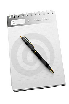 Diary With Striped Paper Stock Images - Image: 22875394