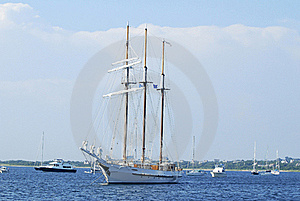 Three Mast Schooner Stock Photography - Image: 22876882