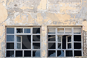 Broken Windows Royalty Free Stock Images - Image: 22882819