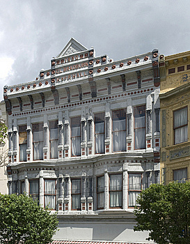 Facade Of 1890 CL Building In Bradburn Royalty Free Stock Photos - Image: 22883198