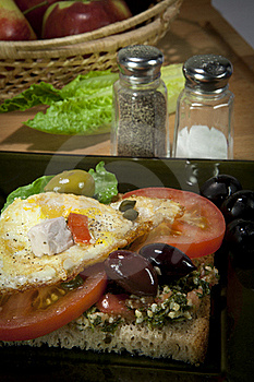 Simple Breakfast Sandwich Stock Photography - Image: 22885612