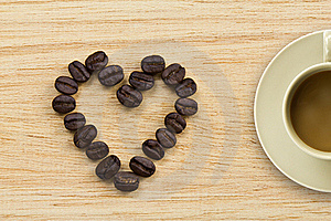 Heart Of Coffee Stock Photography - Image: 22886732