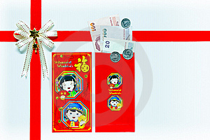 Red Envelope Gift With Banknotes Royalty Free Stock Images - Image: 22887339