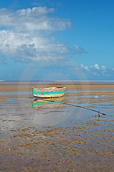 Fishing Boat On Tropical Beach Royalty Free Stock Photography - Image: 22890347