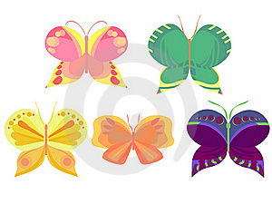 Colored Butterflies Royalty Free Stock Photo - Image: 22895245