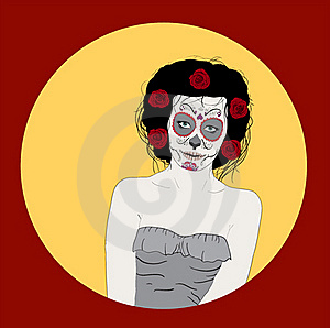 Day Of Dead Girl Stock Image - Image: 22898801