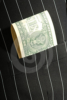 Pocket  One Dollars Stock Images - Image: 2296684