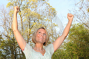 Happy Woman In Nature Stock Photo - Image: 2296830