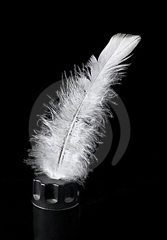 Feather Of Bird In An Inkpot Royalty Free Stock Photography - Image: 22900767