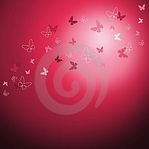 Shiny Background With Butterflies Stock Photography - Image: 22904162